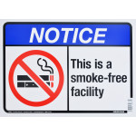 "Smoke Free Zone Notice Sign (10"" x 14"")"