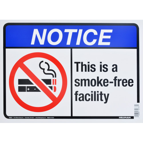 Smoke Free Zone Notice Sign (10