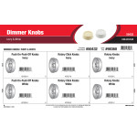 Dimmer Knobs Assortment (IvorY & White)