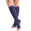1772 Ladies' Below Knee Open Toe Violet Sheer Stockings