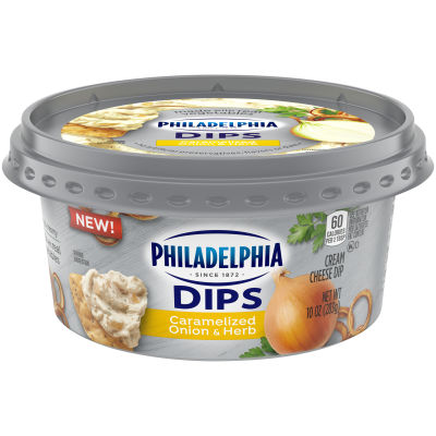 Philadelphia Dips Caramelized Onion & Herb Cream Cheese Dip, 10oz Tub