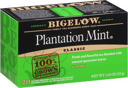 Plantation Mint Tea Case of 6 boxes - total of 120 teabags