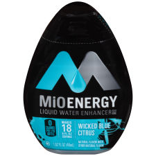 MiO Energy Wicked Blue Citrus Liquid Water Enhancer 12 - 1.62 fl oz Bottles