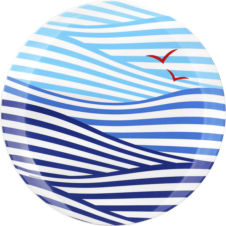 Wave Creatures Melamine Plate, Seagull slideshow image 2