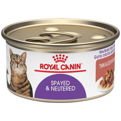 Spayed & Neutered Thin Slices in Gravy Canned Cat Food