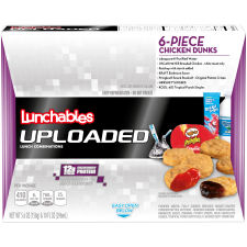 Lunchables Uploaded 6-Piece Chicken Dunks Lunch Combination 5.6 oz Tray with 10 fl oz Spring Water