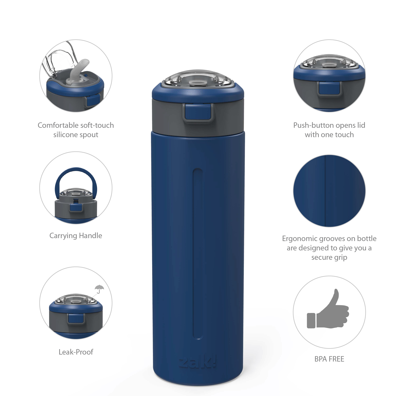 Genesis Vaccum Insulated Stainless Steel Water Bottle, Indigo slideshow image 6
