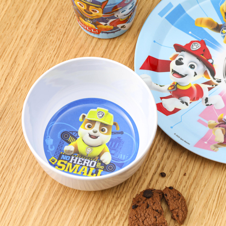 Paw Patrol Kid's Dinnerware Set, Chase and Rubble, 3-piece set slideshow image 8