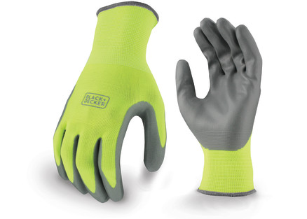BLACK+DECKER BD514 High Visibility Foam Nitrile Grip Glove