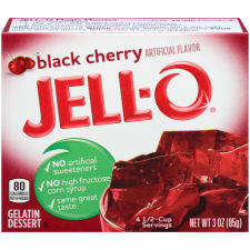 Jell-O Black Cherry Instant Powdered Gelatin Dessert 3 oz Bag