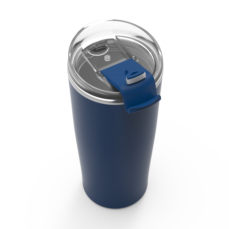 Aberdeen 20 ounce Vacuum Insulated Stainless Steel Tumbler, Indigo slideshow image 4