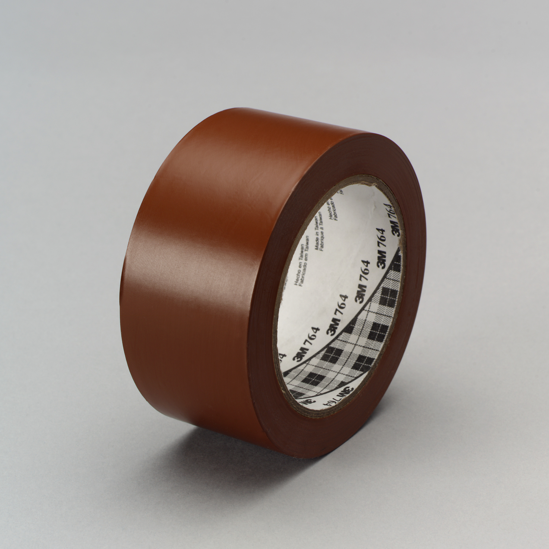 3M™ General Purpose Vinyl Tape 764, Brown, 49 in x 36 yd, 5 mil, 3 rolls per case, Plastic Core