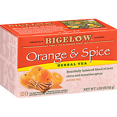 Orange and Spice Herbal Tea - Case of 6 boxes - total of 120 teabags