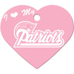 New England Patriots Pink Large Heart Quick-Tag