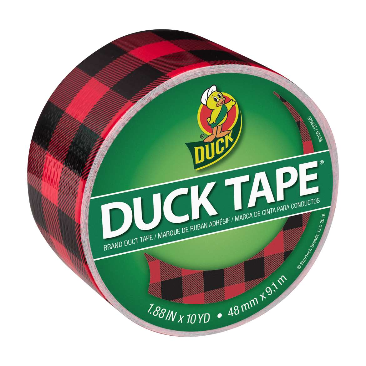Printed Duck Tape® Brand Duct Tape - Buffalo Plaid, 1.88 in. x 10 yd. Image
