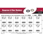 "Neoprene & Fiber Washers Assortment (5/32"" thru 7/16"" Inner Dimension & 1/16"" Thick)"