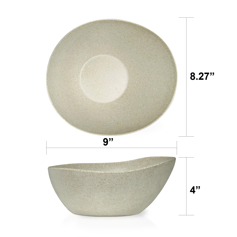 Elements Serving Tray and Bowl Set, White, 4-piece set slideshow image 3