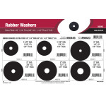 "Extra Thick 1/8"" Rubber Washers Assortment (1/4"" thru 5/8"" I.D. & 1-1/2"" thru 2"" O.D.)"