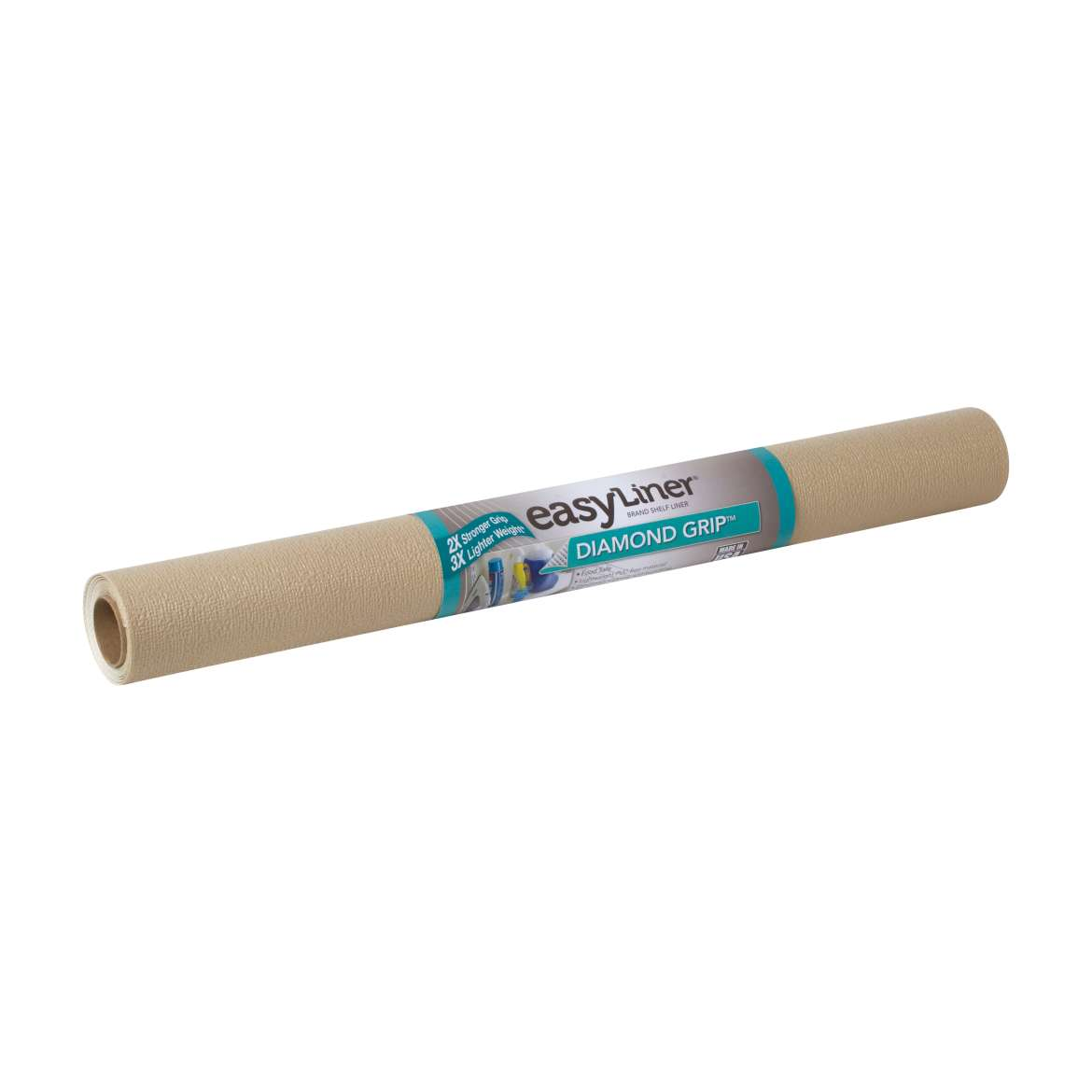 Diamond Grip™ Easy Liner® Brand Shelf Liner - Taupe, 20 in. x 5 ft. Image