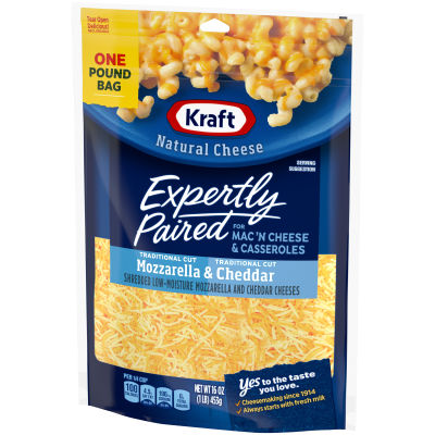 Kraft Pizza Style Mozzarella & Cheddar Shredded Natural Cheese 16 oz Pouch