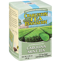 Carolina Mint Black Tea Pyramid Bags - Case of 6 boxes- total of 72 teabags