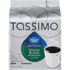 Maxwell House Cafe Collection Decaffeinated House Blend Ground Coffee T-Disc for Tassimo Brewing System, 16 count
