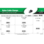 "Black Nylon Cable Clamps Assortment (1/2"" Wide for 3/4"" thru 1-1/2"" Cable)"