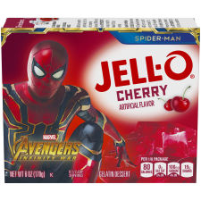 Jell-O Cherry Instant Powdered Gelatin Dessert 6 oz Box