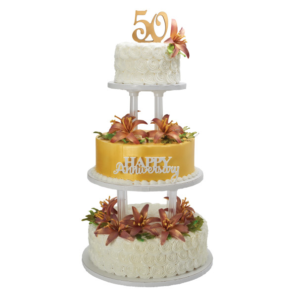 """Separated 3-Tier Round 6"""", 10"""", 12"""" Cake Structure Set"""