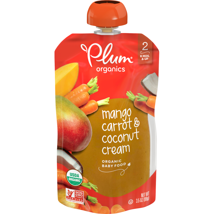 Mango, Carrot & Coconut Cream Baby Food