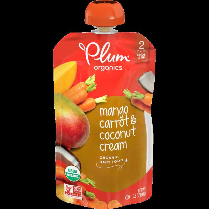 Mango, Carrot & Coconut Cream Baby Food