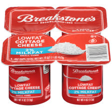 Breakstone's Small Curd 2% Milkfat Lowfat Cottage Cheese 4 � 4 oz Cups