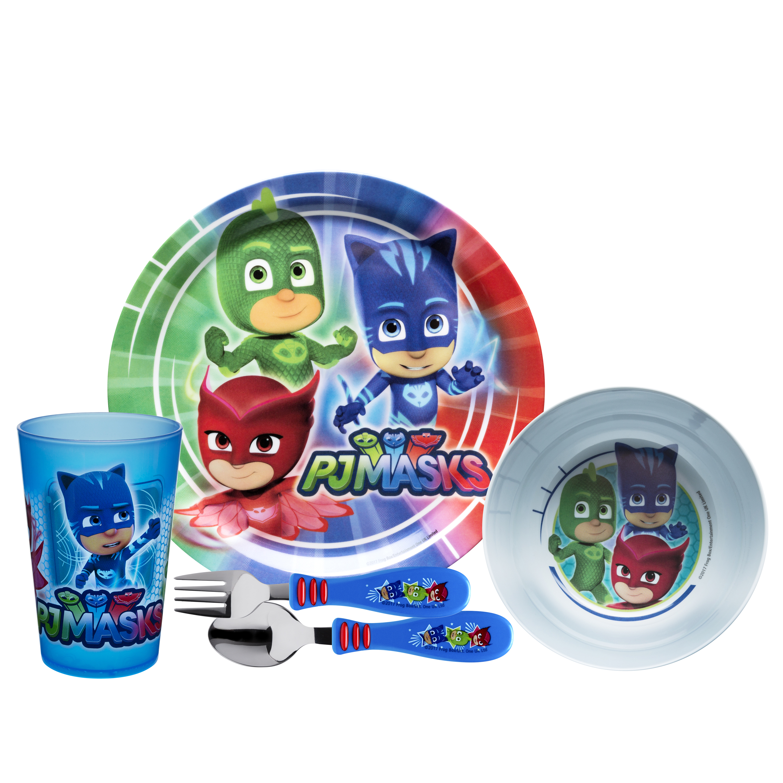 PJ Masks Dinnerware Set, Catboy, Owlette & Gekko, 5-piece set slideshow image 2