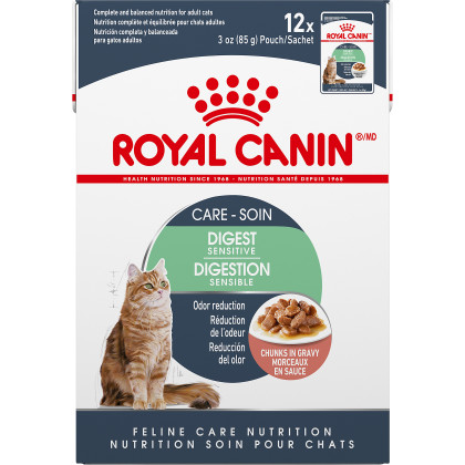 Royal Canin Feline Care Nutrition Digest Sensitive Pouch Cat Food