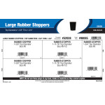 """Large Rubber Stoppers Assortment (Top Diameters 1-5/8"""" Thru 1-3/4"""")"""