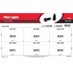Pilot Lights Assortment (110 & 250 Volts)