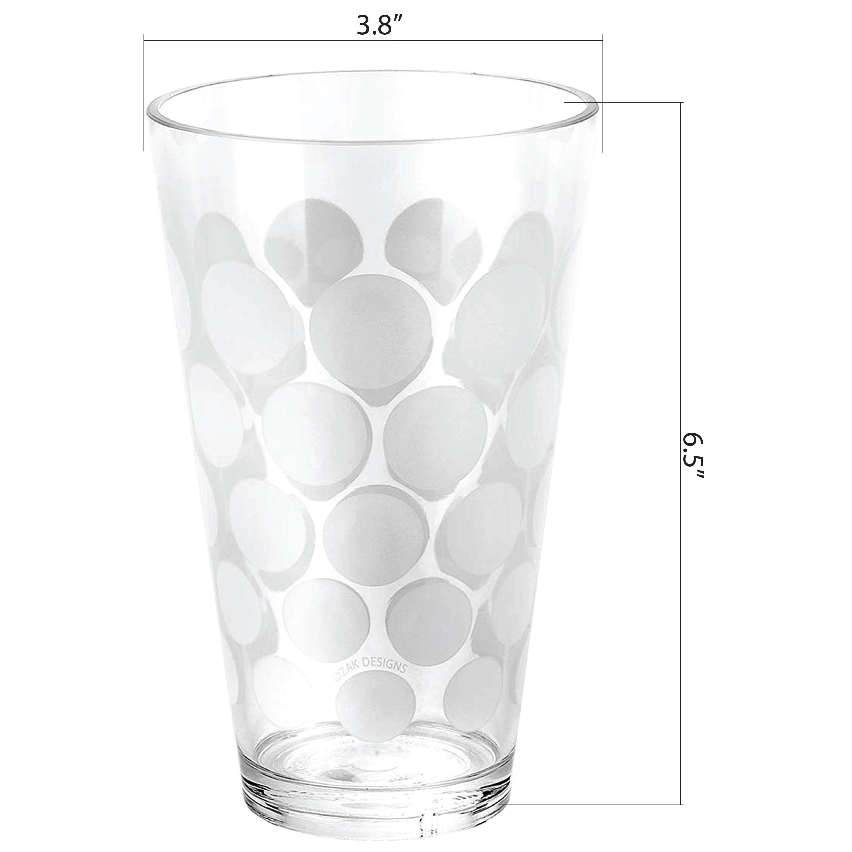 Dot Dot 20 ounce Highball Glass, White, 6-piece set slideshow image 13