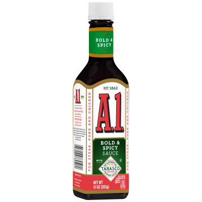 A.1. Bold and Spicy Sauce Made with Tabasco, 10 oz Bottle
