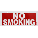 No Smoking Horizontal Sign With Boarder