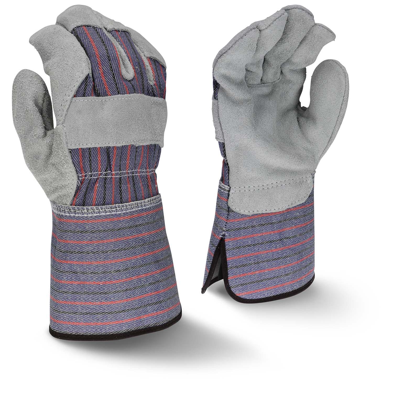 Radians RWG3200G Regular Shoulder Gray Split Cowhide Leather Glove with Gauntlet Cuff