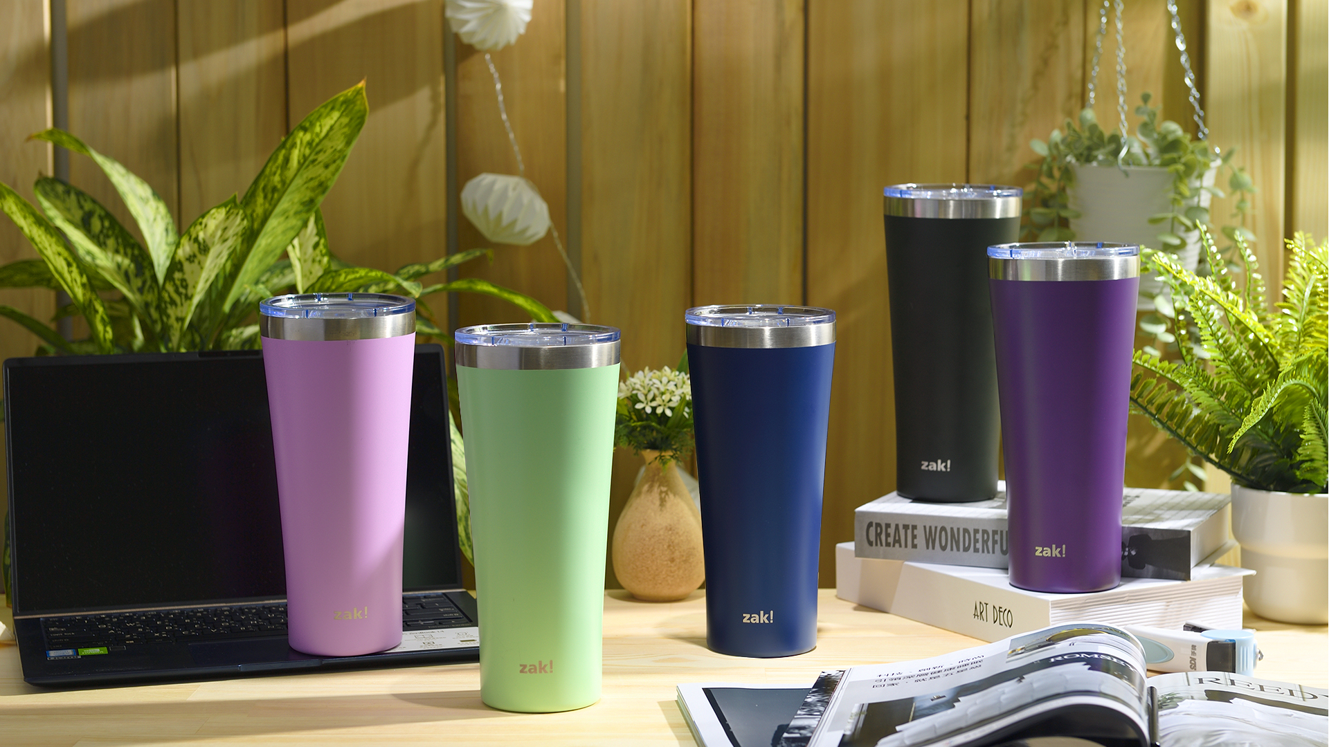 Alpine 30 ounce Stainless Steel Vacuum Insulated Tumbler with Straw, Lilac slideshow image 7