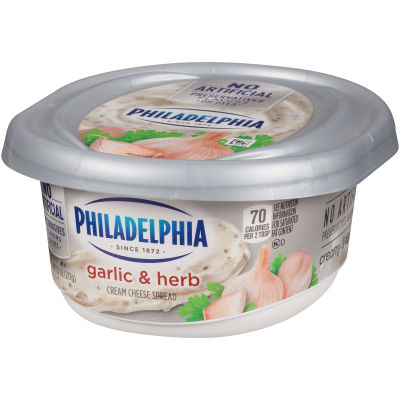 Philadelphia Garlic And Herb Cream Cheese Spread 7.5 oz Tub