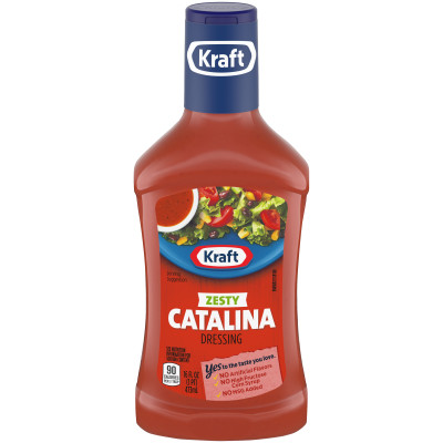 Kraft Zesty Catalina Dressing 16 fl oz Bottle