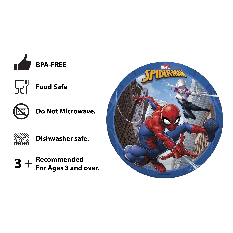 Marvel Kid's Dinnerware Set, Spider-Man, 3-piece set slideshow image 9