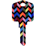 Kool Keys Chevron Key Blank