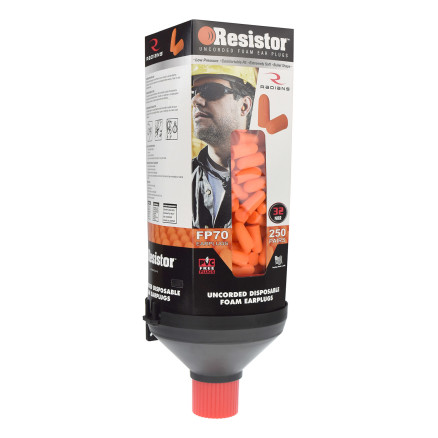 Radians Resistor Foam Earplug 250 Pair Dispensers