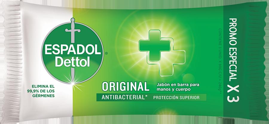 Espadol Dettol Jabón en Barra Original