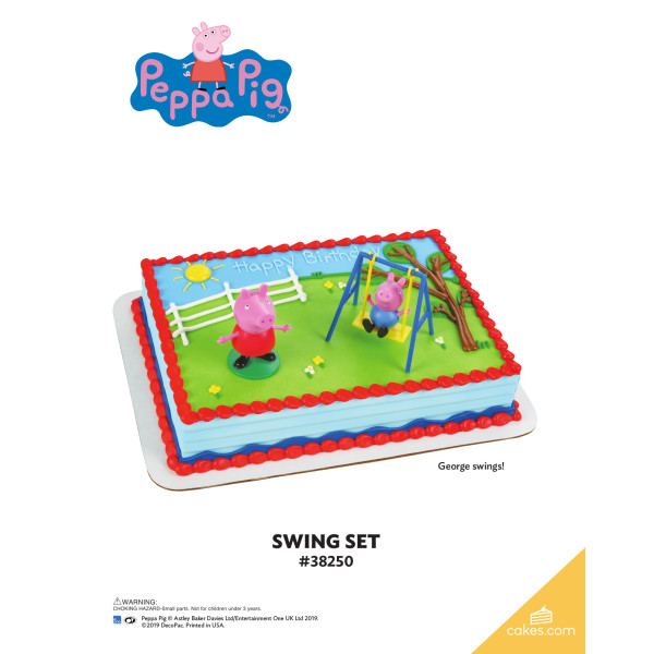 Peppa Pig™ Swing Set DecoSet® The Magic of Cakes® Page