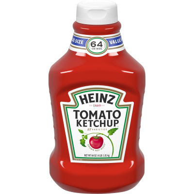 Heinz Fridge Fit Tomato Ketchup 64 oz Bottle