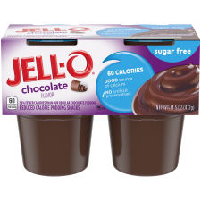 Jell-O Chocolate Sugar Free Pudding Cups, 14.5 oz Sleeve (4 Cups)